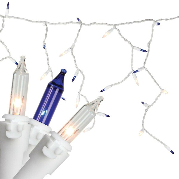 Mini Christmas 100 Light Icicle Light by The Holiday Aisle
