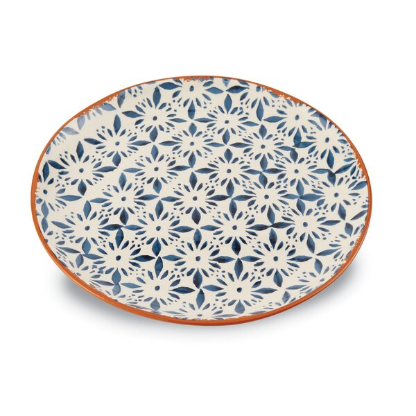 Bungalow Glazed Round Serving Platter by Mud Pie™