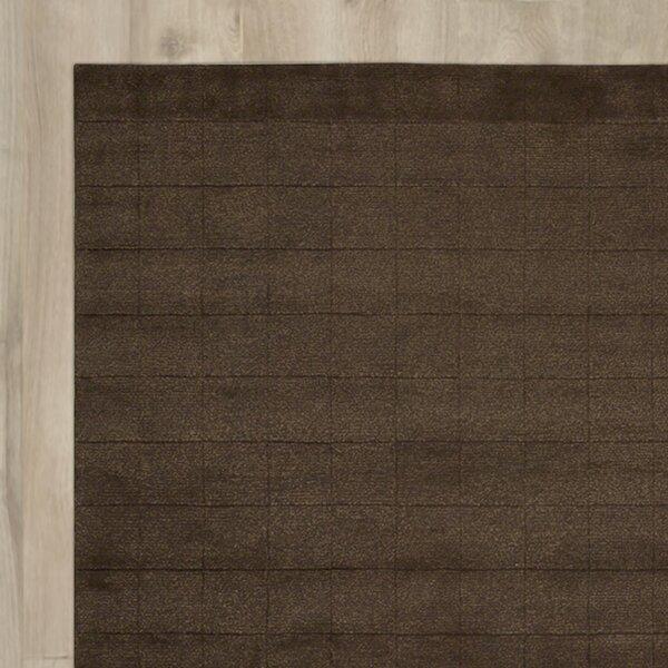 Hocker Hand-Knotted Brown Area Rug by Brayden Studio