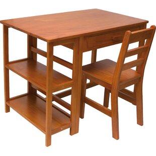 Rosalyn Kid's 36 W Writing Desk & Chair Set
