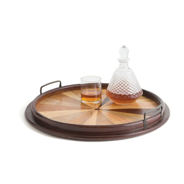 Brown Wood Serving Tray by Breakwater Bay