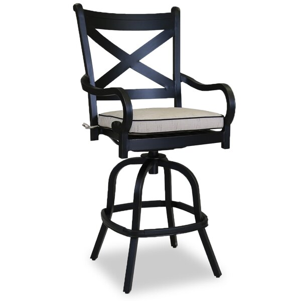 Monterey 30 Patio Bar Stool with Self Welt Cushion by Sunset West