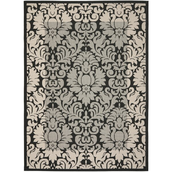 Herefordshire Black / Sand Indoor/Outdoor Area Rug by Winston Porter