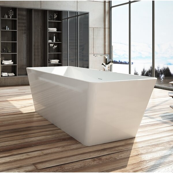 Onsen 59 x 28 Freestanding Soaking Bathtub by Wet Republic