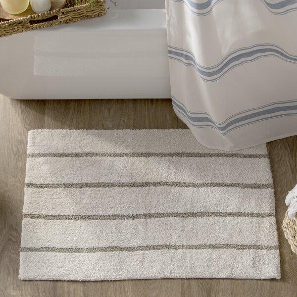 Caufield Cotton Tufted Striped Bath Rug by Eider & Ivory