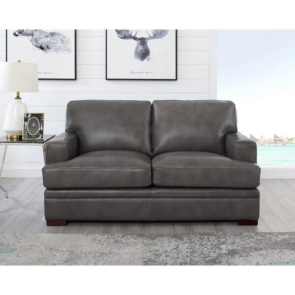 Price Sale Eriksay Leather Loveseat
