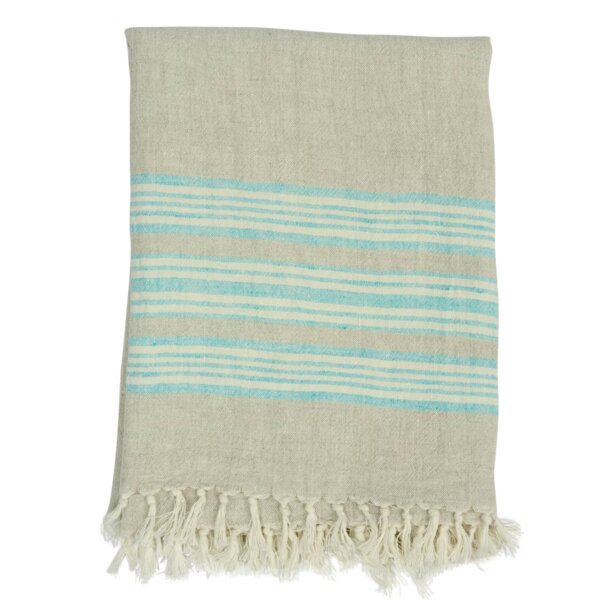 Boynton Classic Stripe Throw by Rosecliff Heights