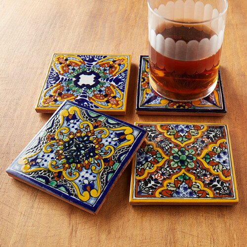 Spanish Garden Hand Painted Tile Coasters (Set of 4) by Native Trails, Inc.