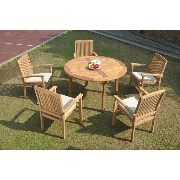 Otsego 6 Piece Teak Dining Set by Rosecliff Heights