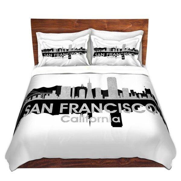 City IV San Francisco California Duvet Set by East Urban Home