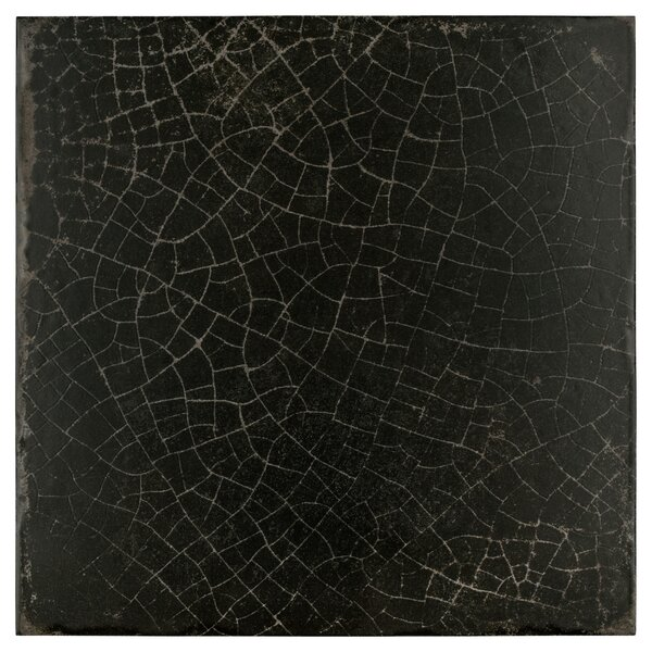 Karta 12.13 x 12.13 Porcelain Field Tile in Nero by EliteTile