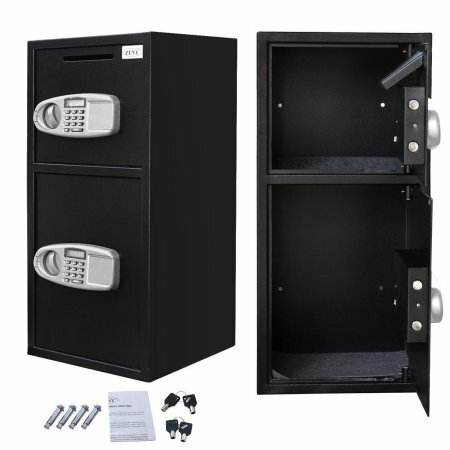 Digital Deposit Double Door Security Safe with Electronic Lock by Zeny