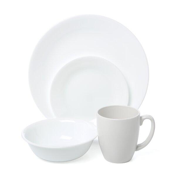 Livingware Winter Frost 16 Piece Dinnerware Set, Service for 4 by Corelle