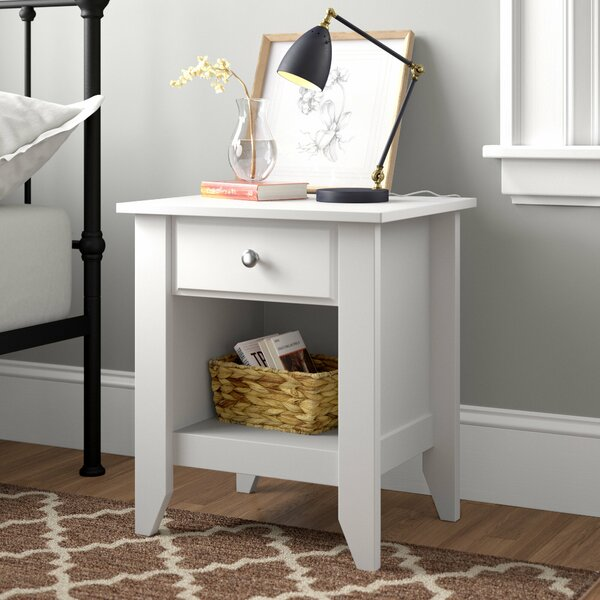Review Olney 1 Drawer Nightstand