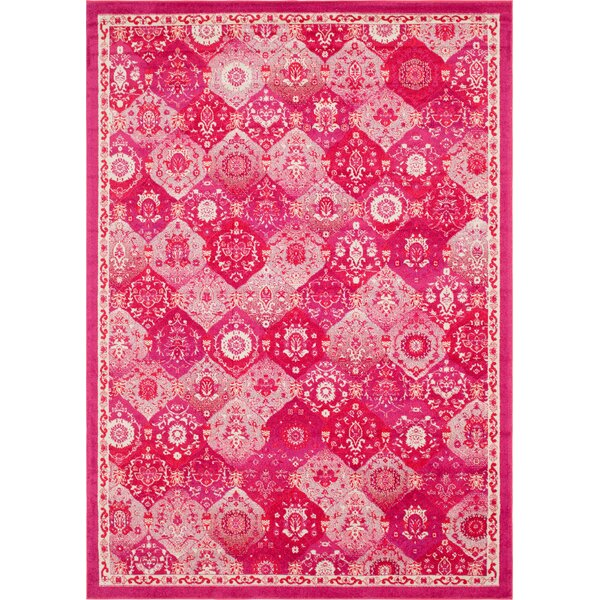 Ernst Magenta Area Rug by Bungalow Rose