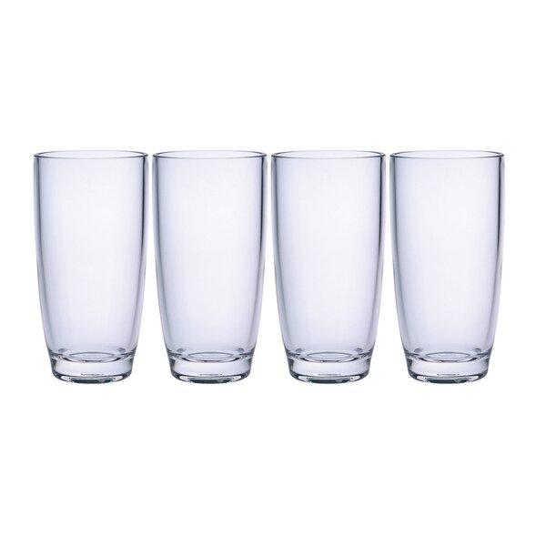 Plaza 15 oz. Acrylic Highball Glass (Set of 4) by Chenco Inc.