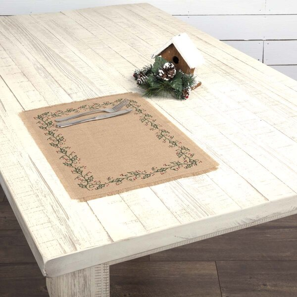 Arviso Jute Burlap Placemat (Set of 6) by The Holiday Aisle