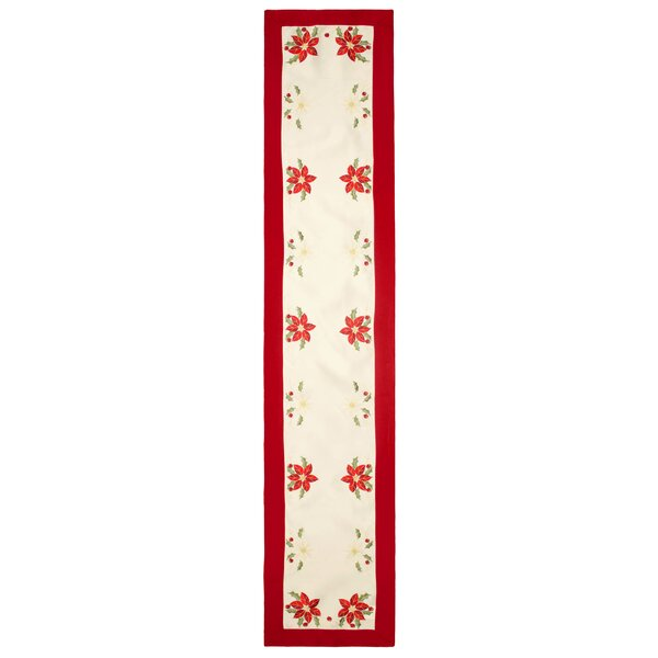 Holiday Embroidered Table Runner by Window Elements
