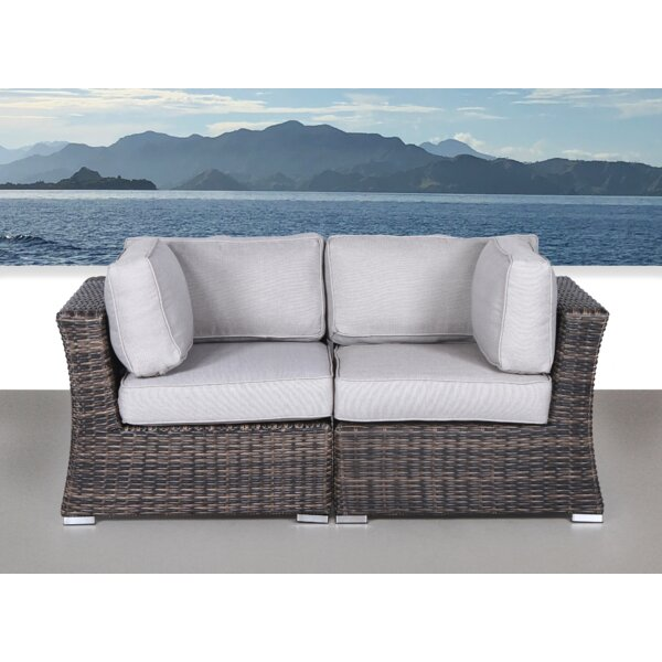 Huddleson Contemporary Loveseat With Cushion By Rosecliff Heights