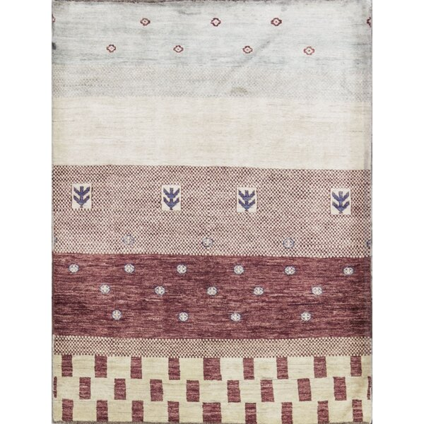 One-of-a-Kind Gabbeh Hand-Knotted Wool Natural Area Rug by Bokara Rug Co., Inc.