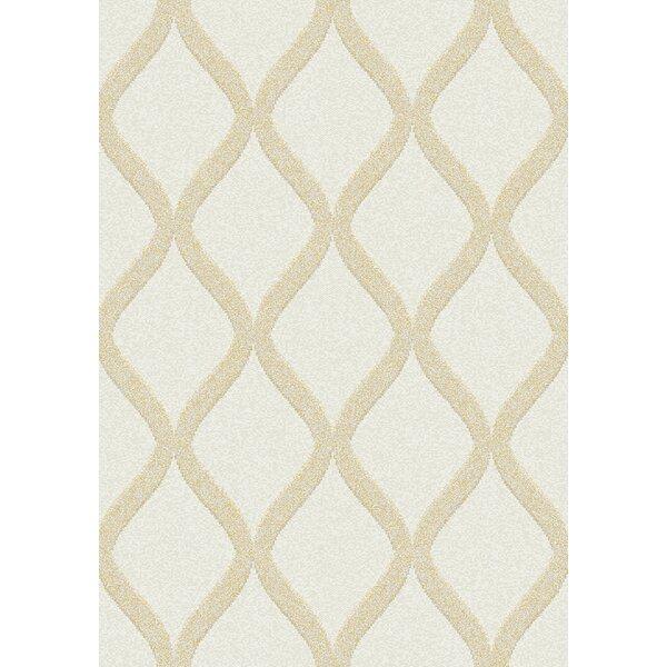 Brick Elegant Lattice Cream/Yellow Area Rug by Brayden Studio