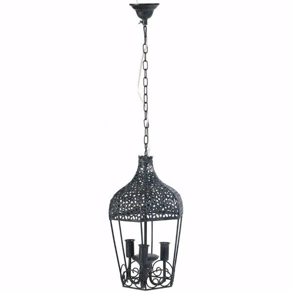 3-Light Lantern Pendant by Fleur De Lis Living