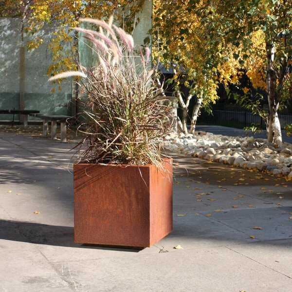 Metallic Series Corten Steel Planter Box By Veradek.