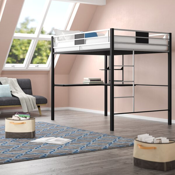 Danyelle Twin Loft Bed with Shelf by Viv + Rae