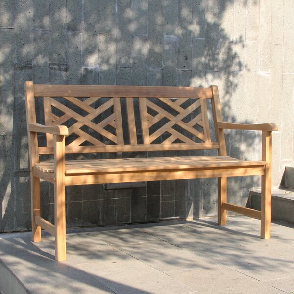 Schank Teak Garden Bench by Charlton Home