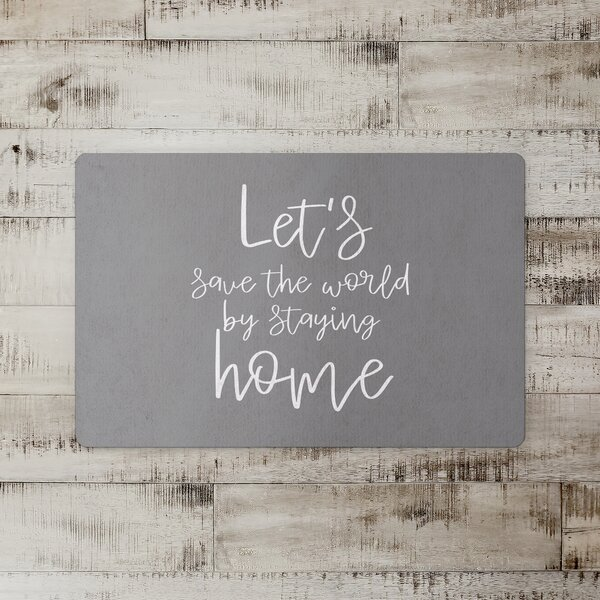 Alcimon Save the World Stay Home Floor Kitchen Mat