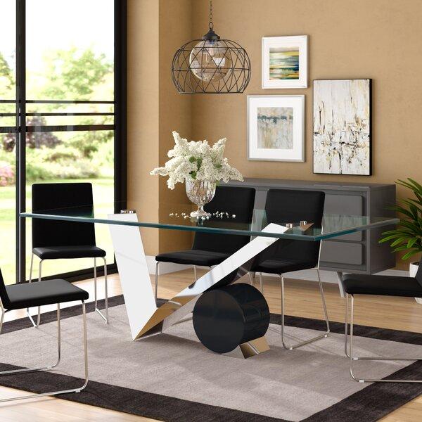 Poitras Geometric Style Base Dining Table by Brayden Studio Brayden Studio