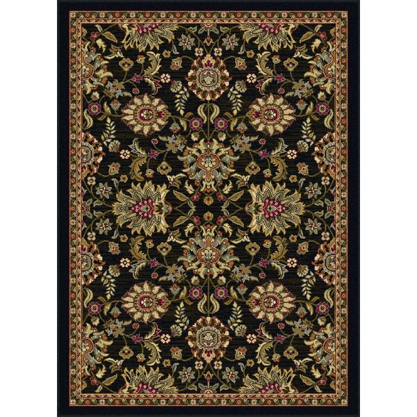 Pippins Black Area Rug by Three Posts