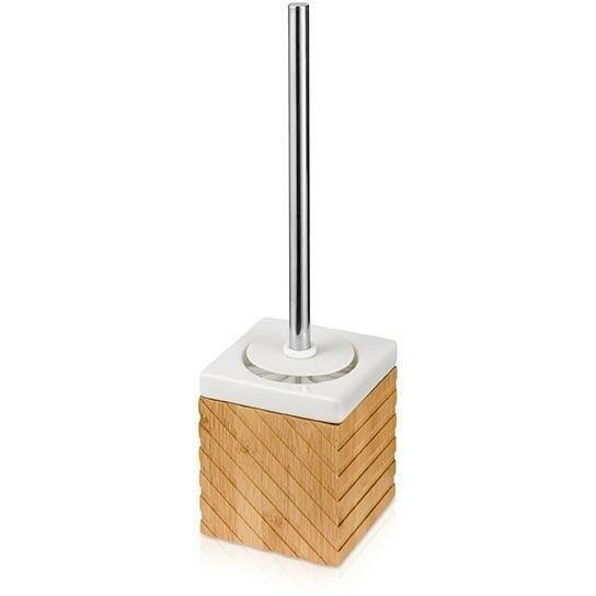 Ceramic Bamboo Free Standing Toilet Brush and Holder by AGM Home StoreCeramic Bamboo Free Standing Toilet Brush and Holder by AGM Home Store