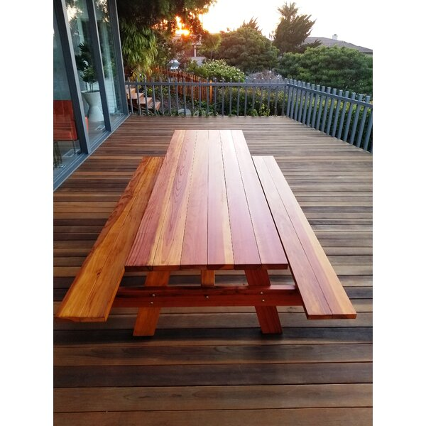 Threadgill Wooden Picnic Table by Brayden Studio