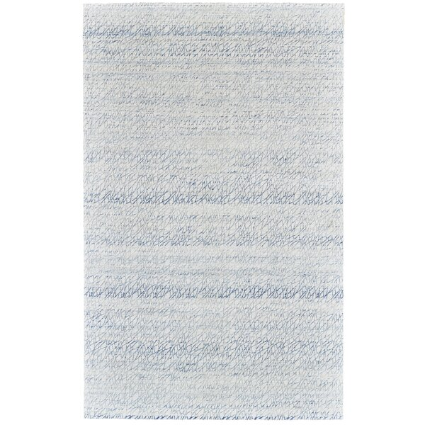 Jarice Hand-Woven Light Blue Area Rug by Highland Dunes