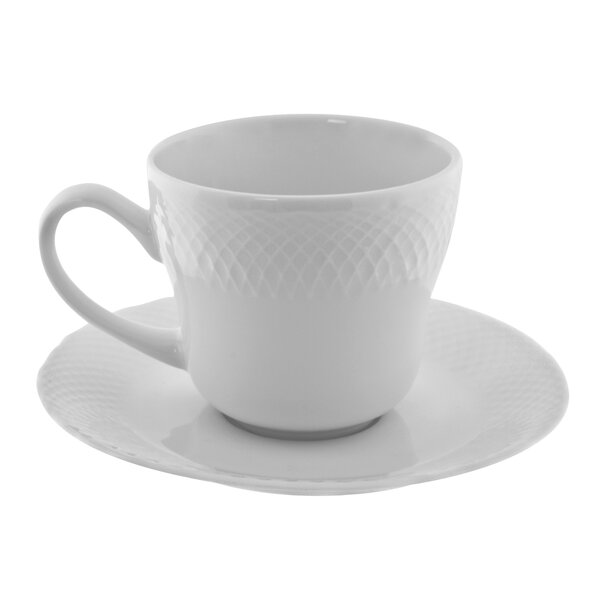Wicker 8 oz. Teacup and Saucer (Set of 6) by Ten Strawberry Street