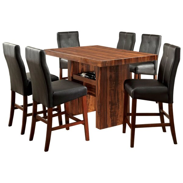 Hermnio 7 Piece Dining Set by Red Barrel Studio Red Barrel Studio