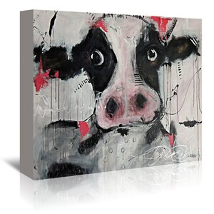 'Cow Pink' Painting Print on Wrapped Canvas by East Urban Home