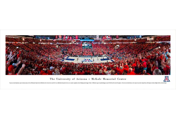 NCAA Arizona, University of - Basketball by Christopher Gjevre Photographic Print by Blakeway Worldwide Panoramas, Inc