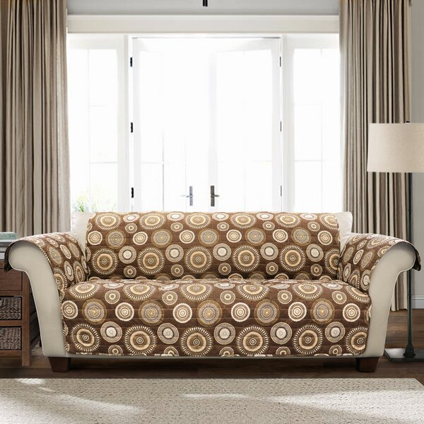 Single T-Cushion Sofa Slipcover by Winston Porter