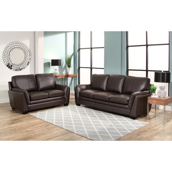 Whitstran 2 Piece Leather Living Room Set by Darby Home Co