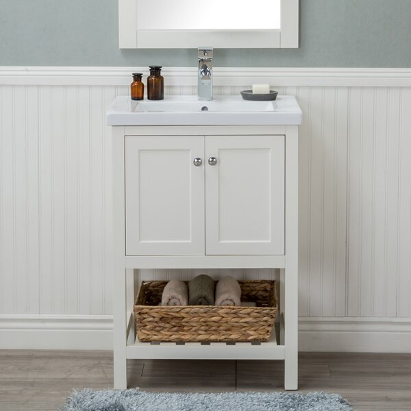 Durso 24 Single Sink Bathroom Vanity Set by Rosecliff Heights