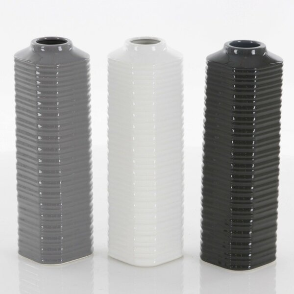 Huntley Ceramic Table Vase (Set of 3) by Wrought Studio