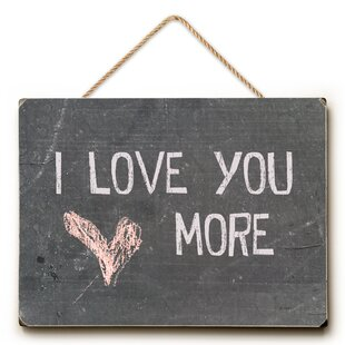 Exceptionnel I Love You More Textual Art