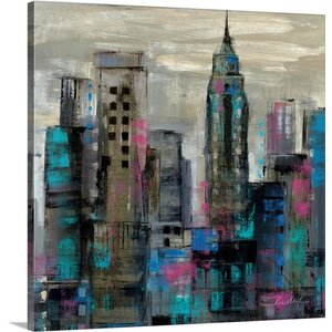 'New York Moment III' by Silvia Vassileva Painting Print on Canvas by Canvas On Demand