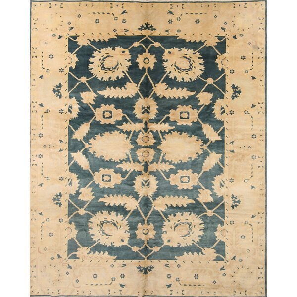 One-of-a-Kind Myrtlewood Agra Egypt Oriental Hand-Knotted Wool Green Area Rug by Astoria Grand