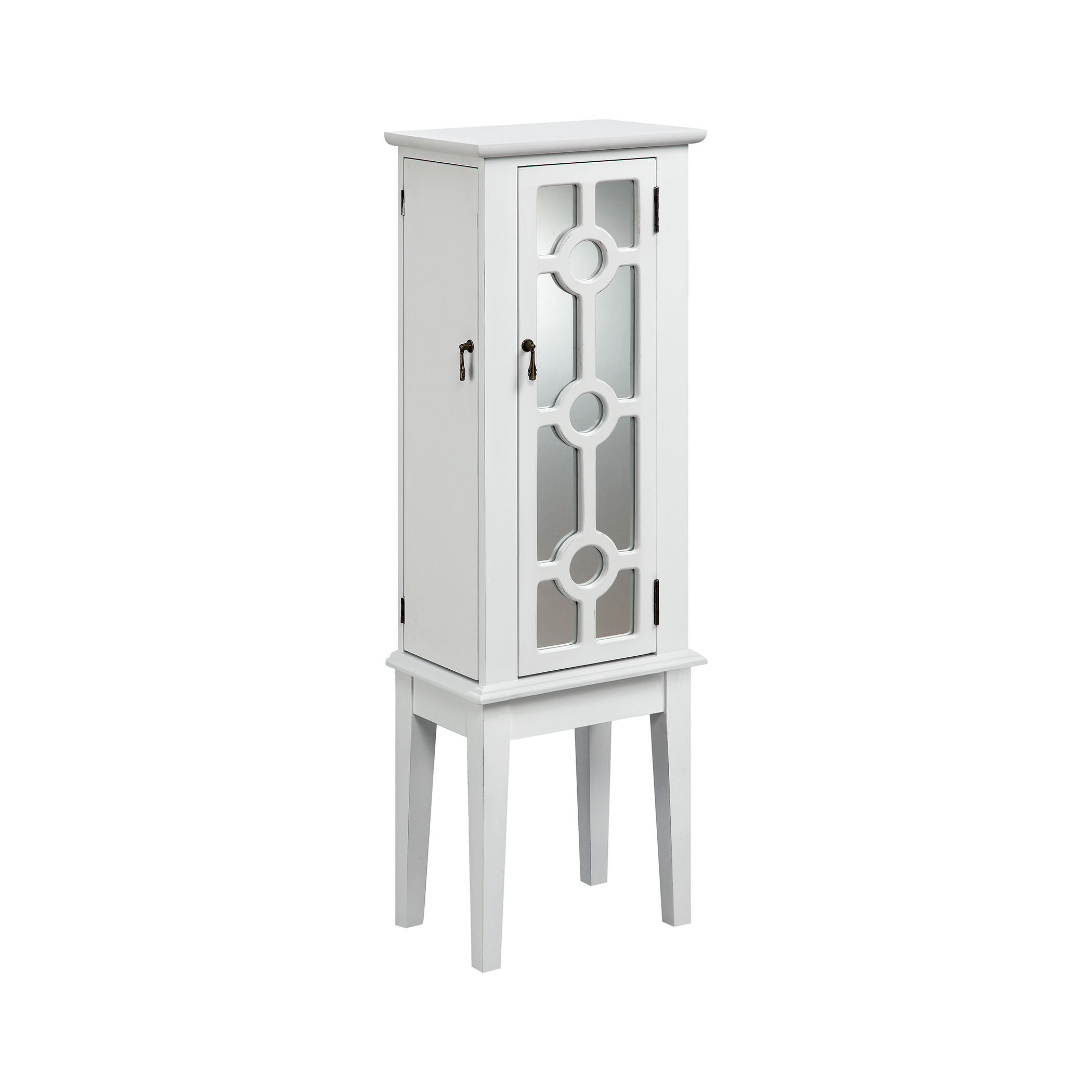 Villicana Free Standing Jewelry Armoire With Mirror Reviews Birch Lane