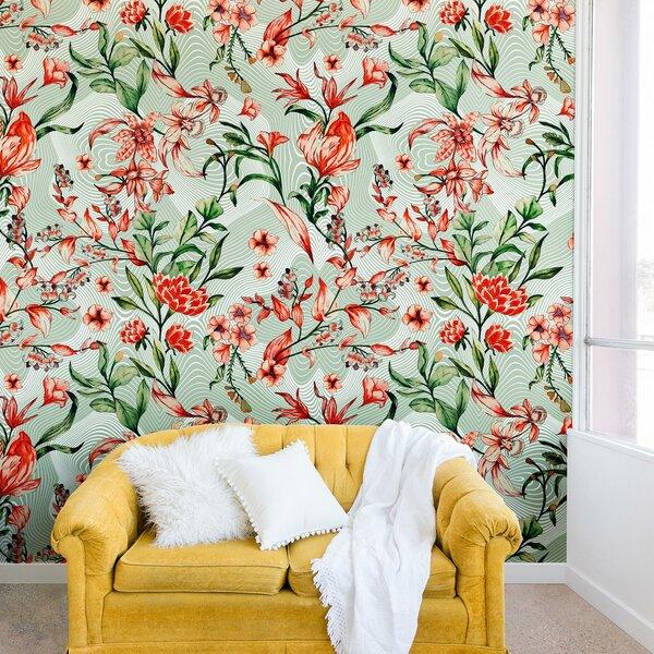 Marta Barragan Camarasa Exotic tropical Bloom Wall Mural by East Urban Home