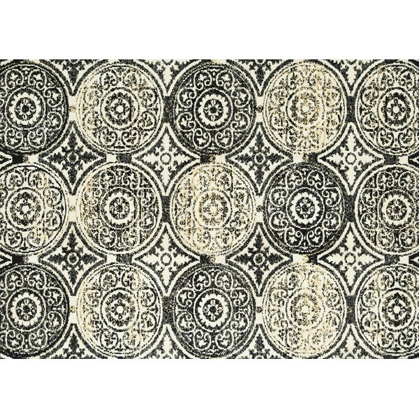 Keiper Black/Beige Area Rug by Alcott Hill