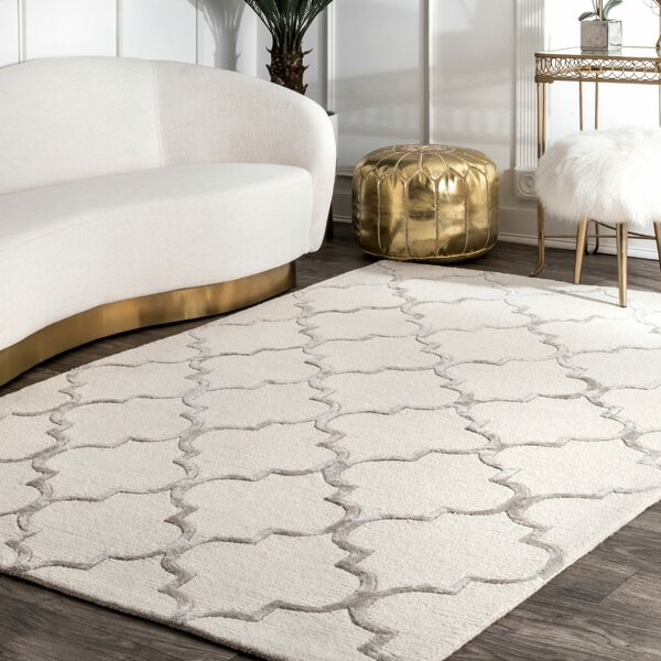 Noirmont Hand-Woven Ivory  Area Rug by House of Hampton
